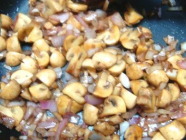 brown rice, rice, mushroom, casserole, recipe, dish, food, cook, cooking