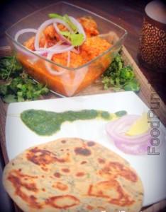 Chicken, korma, pudina, mint, paratha, bread, flavor, coriander, cutney , sauce, indian, recipes, cooking, dish