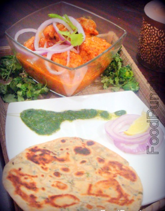 Chicken, korma, pudina, mint, paratha, bread, flavor, coriander, cutney , sauce, indian, recipes, cooking, dish