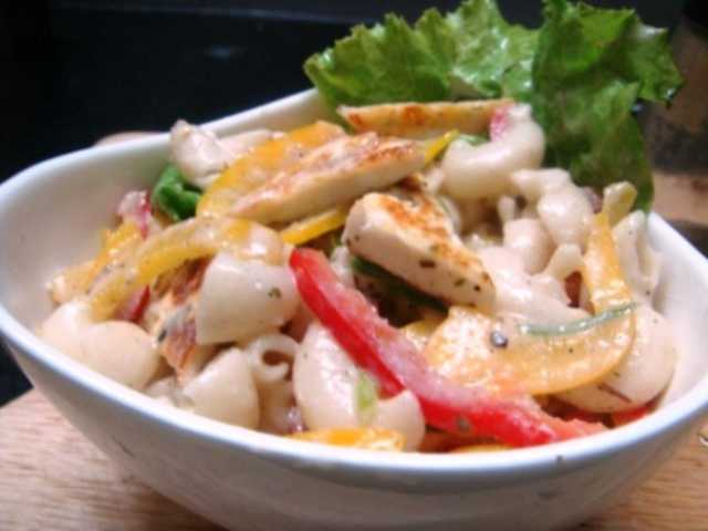 pasta,macaroni, cheese, cottage cheese, paneer, salad, bell pepper, recipe, dish, cooking