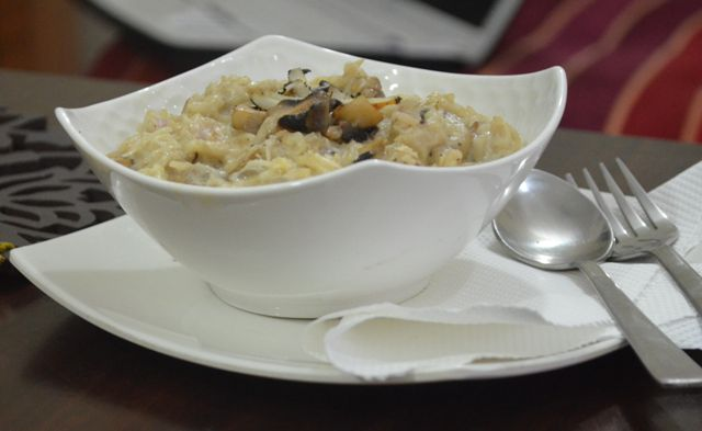 brown rice, rice, mushroom, casserole, recipe, dish, food, cook, cooking