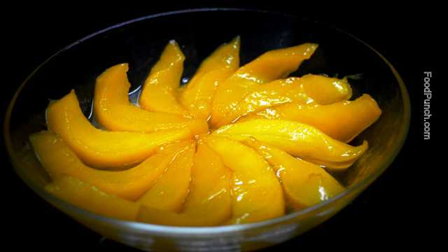 caramelized, caramelised, mangoes, recipe, sweet, dish, fruits, deserts