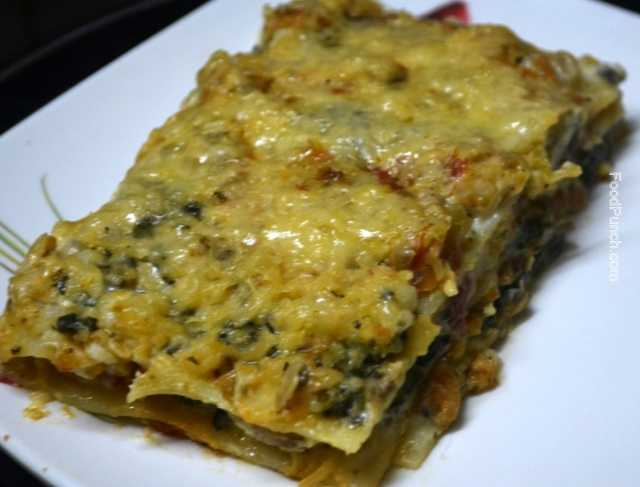 Vegetarian Spinach And Mushroom Lasagna Recipe — Dishmaps