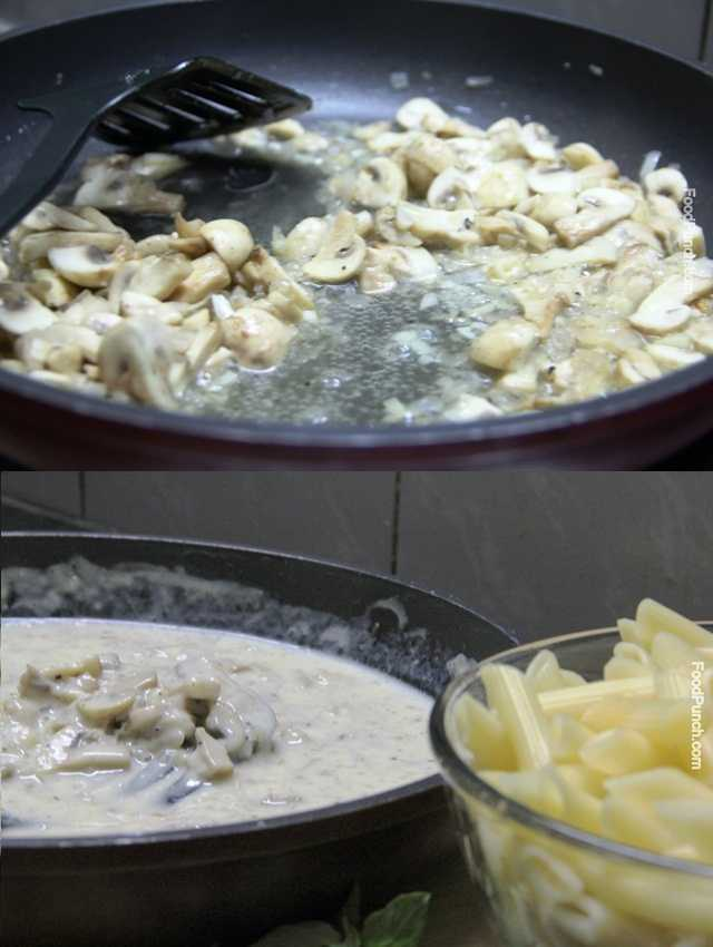 creamy pasta, cheesy pasta recipe, pasta with mushroom sauce, recipe, vegetarian recipe, veg recipe, recipes, pasta recipe, penne recipe, penne rigate recipe
