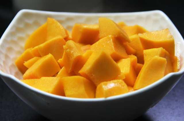 ... mango sweet dish, mango recipe, mangoes dessert, panna cotta, panna