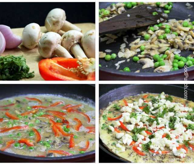 mushroom frittata, stuffed omlette, egg recipe, mushroom and cheese frittata, vegetable frittata recipe, recipes , omelet, strata recipe