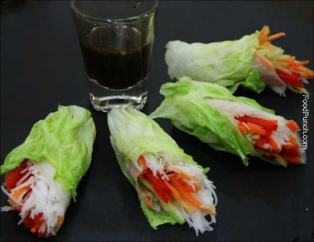 fresh wrap, veg snacks, diet food, glutten free food, Vietnamese food, vietnamese spring roll, veg spring roll, side dish, salad wrap, recipe, vegetarian recipe