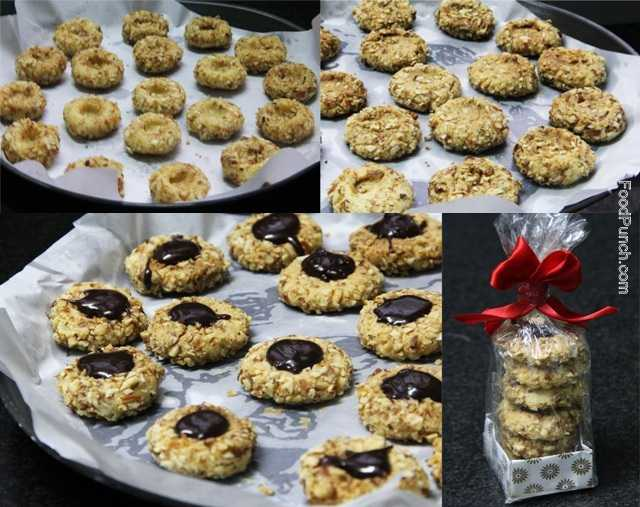 Christmas cookies, nutty cookies, almond cookies, almond and walnut cookies, biscuit, homemade cookies, chocolate cookies, chocolate topped cookies, chocolate dollop cookies, easy cookies, recipe, recipes