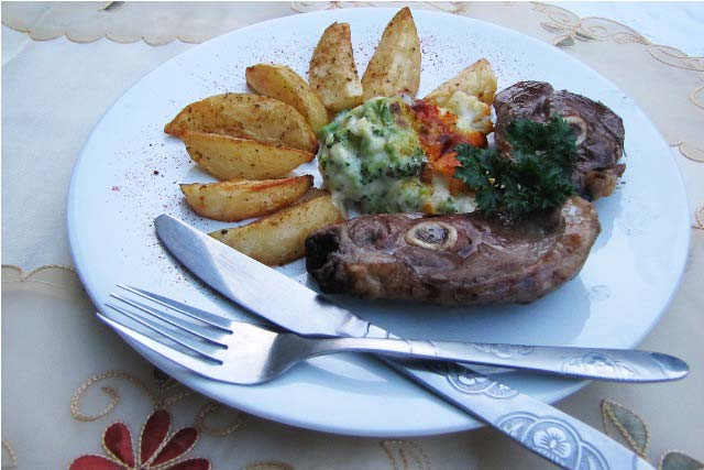 lamb chops, lamb chops recipe, brunch recipe, broccoli bake recipe, cauliflower baked, bake cauliflower recipe, meal plan, grilled lamb chops recipe, mutton chops,