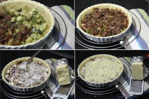 onion tart, french onion tart, caramelized onion tart, vegetarian tart recipe, french onion and zucchini tart, summer tart recipe, savory tart recipe, eggless tart, yogurt tart pastry, recipe