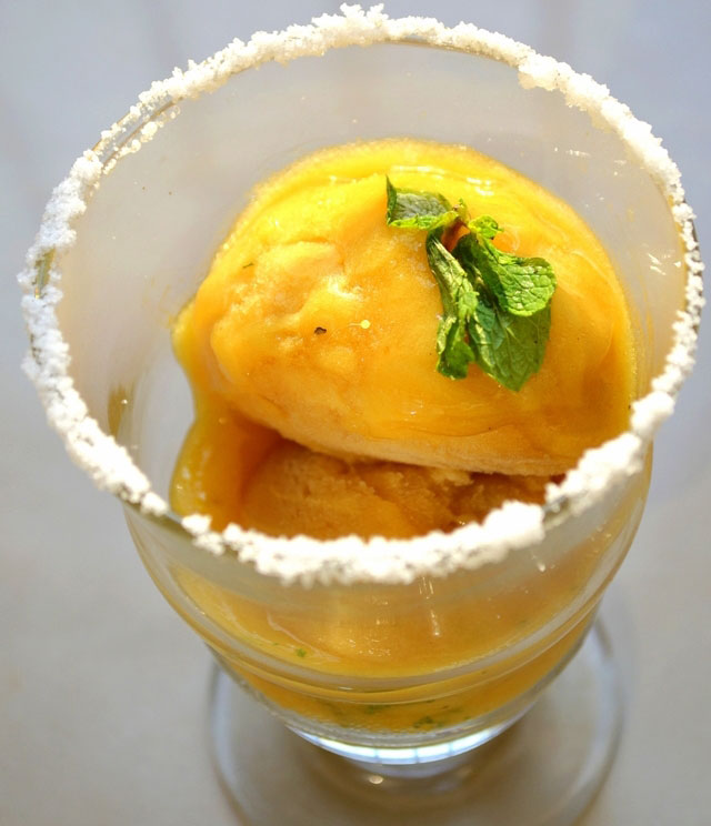 Green mango sorbet, sorbet recipe, raw mango recipe, mango ice cream, green mango icecream, summer recipe, dessert, ice candy dessert, home made mango ice cream
