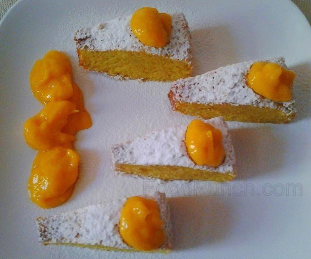 mango angel food cake, food cake, angel food cake, mango cake, mango recipe, mango dessert, sponge cake recipe, summer cake