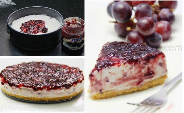 no bake blackberry cheesecake recipe, cheesecake recipe, blueberry cheesecake recipe, berry cheesecake, eggless cheesecake, no bake cheesecake, greek dessert, italian dessert, mascarpone cheesecake, yogurt cheesecake, homemadae cheesecake, dessert