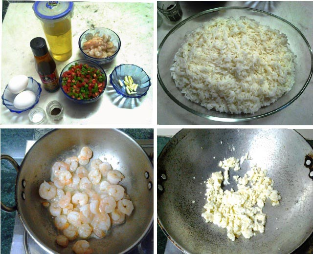 Pran and egg fried rice, healthy and quick lunch, fried rice recipe, prawns recipe with rice, prawn and eggs, non vegetarian rice, rice recipe