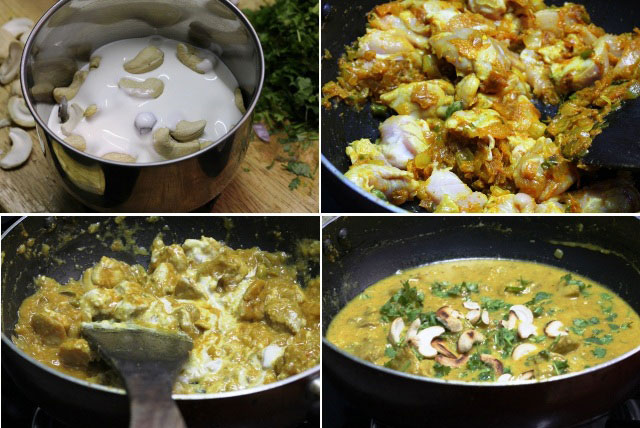 boneless chicken recipes, chicken recipes, chicken in white curry recipe, indian summer chicken recipe, indian chicken boneless curry, thick chicken curry indian style, indian boneless chicken recipe, chicken in cashewnut gravy, chciken, chicken recipe, indian non spicy chicken recipe, indian chicken gravy, prtay chicken recipe, indian main course recipe