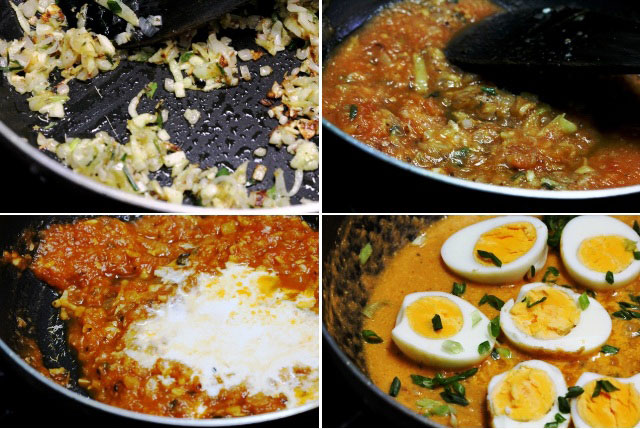 Creamy egg currry, eggs with cream, egg curry, tangy creamy eggs, egg in cream and tomato sauce, eggs recipe, indian curry recipe, egg curry recipe, summer curry recipe, summer recipe
