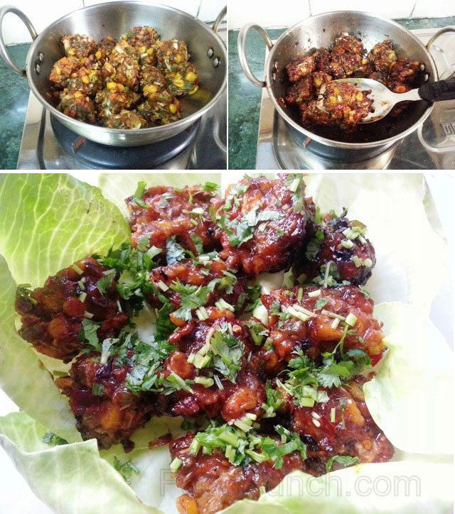 Vegetable Manchurian recipe, veg chinese manchurian, amnchurian , dry manchurian, dry snacks, dry Chinese snacks recipe, snacks recipe
