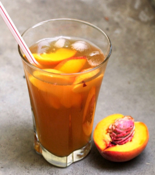 iced tea recipe, peach ice tea, peach flavored iced tea, iced green tea, chilled green tea, peach iced green tea, summer drink, tea drink, summer cooler, antioxidant drink, healthy drink, drinks,