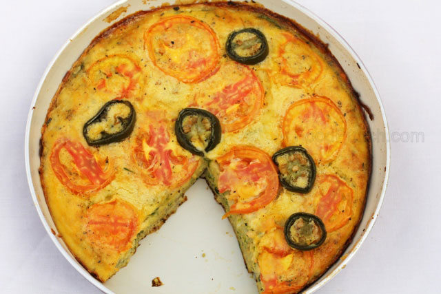 Egg frittata, zucchini recipe, thick omelette recipe, zucchini and tomato frittata, all vegetable frittata, vegetable omelette, sunday brunch, eggs recipe , eggs with cheese, baked eggs recipe