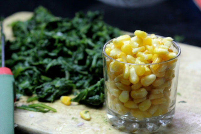 baked corn and spinach recipe