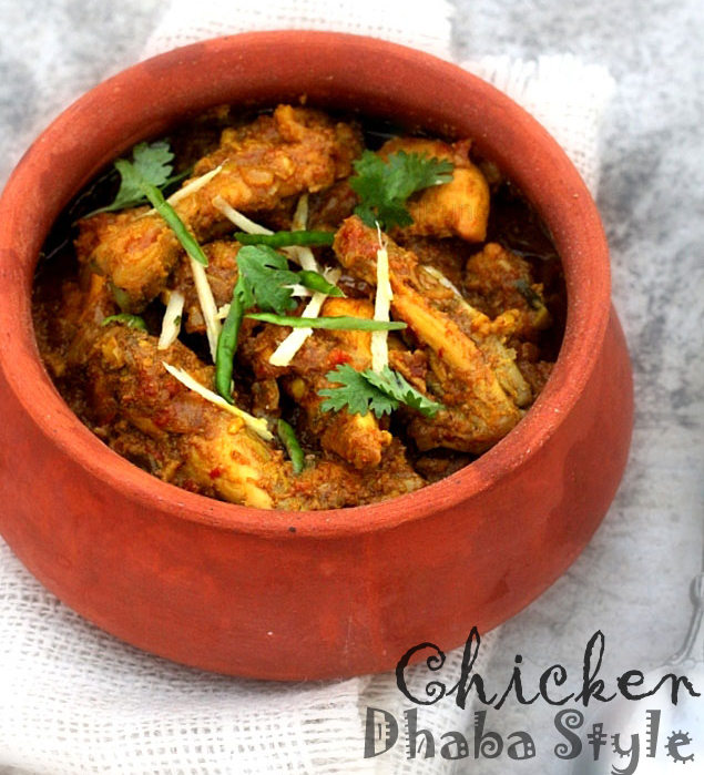 dhaba style chicken recipe, chicken curry, chicken