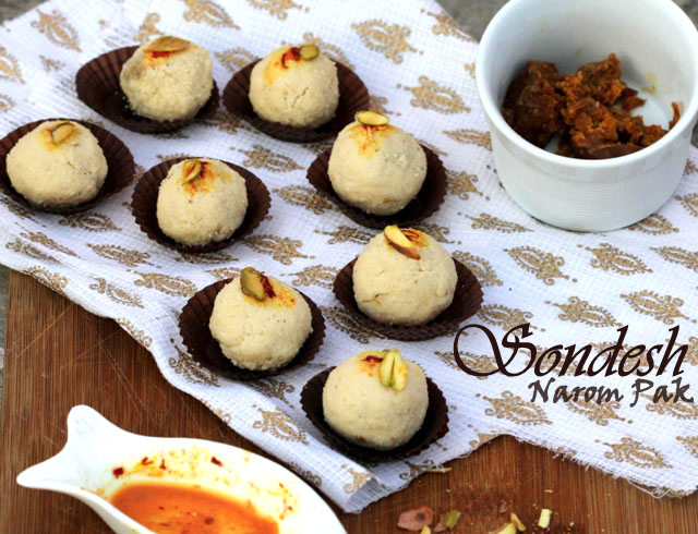 Sondesh recipe, bengali sweet recipe, sondesh with gur