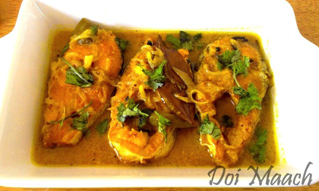 Doi Mach recipe, Fish curry, curd and fish recipe, fish recipe
