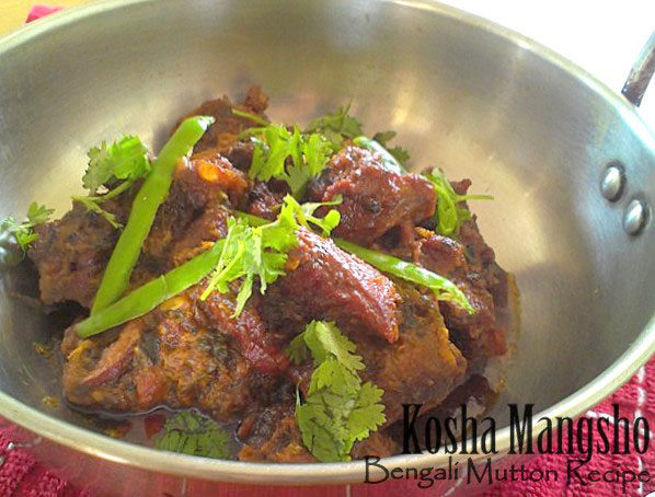 Kosha Mangsho recipe, begali mutton recipe,  mutton recipe