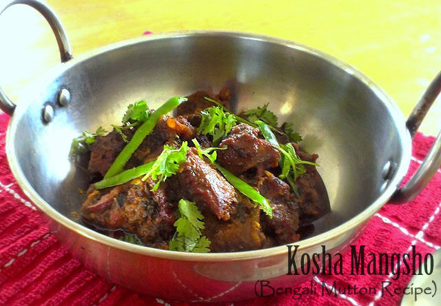 Kosha Mangsho recipe, begali mutton recipe,  mutton recipe