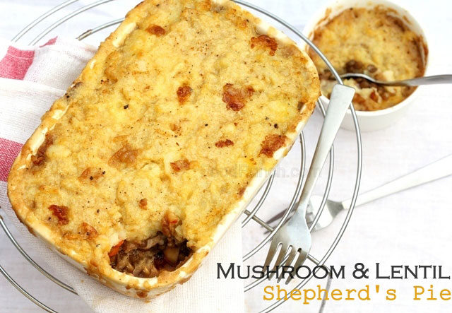 vegetarian shepherd's pie, mushroom and lentil pie, lentil pie, pie ...