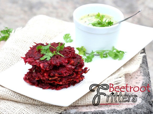 Beetroot fritters, beetroot cutlets, beetroot recipe, snacks