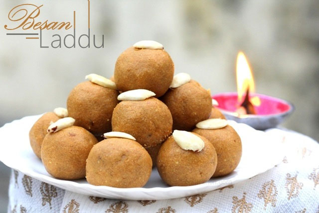 besan laddu recipe, besan ladoo, laddu recipe, festival sweets