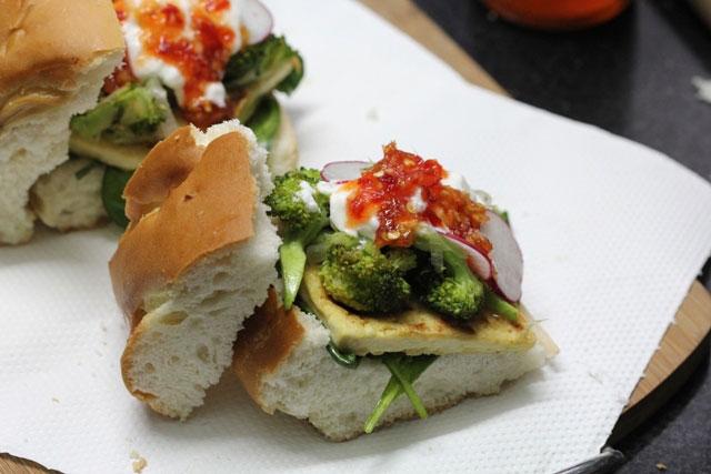 broccoli, tofu and spinach recipe, veg burger, broccoli recipe