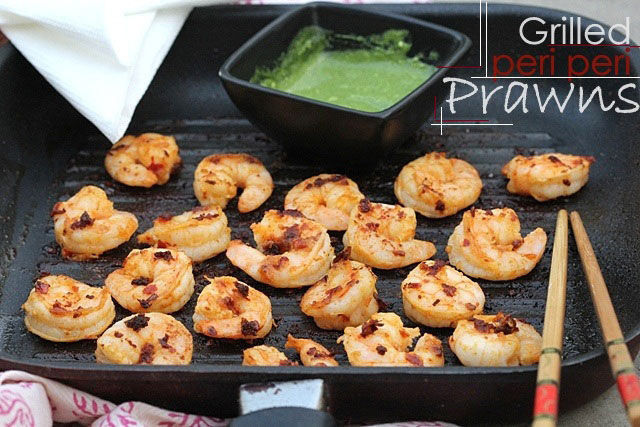 Grilled peri peri prawns recipe, grilled prawn,  prawn recipe