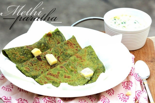 Methi Paratha recipe, fenugreek paratha, Indian bread, how to make paratha