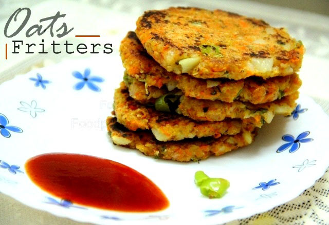 Oats Fritters recipe, oats reacipe, healthy snacks