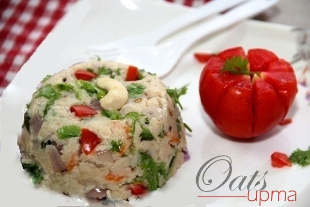Osta recipe, Oats Upma, Savoury oats, healthy breakfast