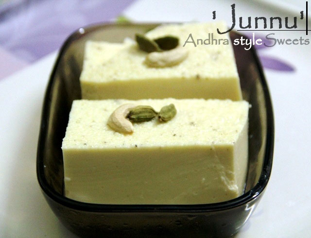 Junnu (Andhra style Milk Pudding) Recipe, Milk pudding, Junnu recipe