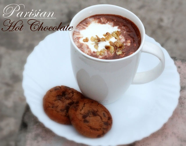 hot chocolate recipe, parisian hot chocolate, best hot chocolate