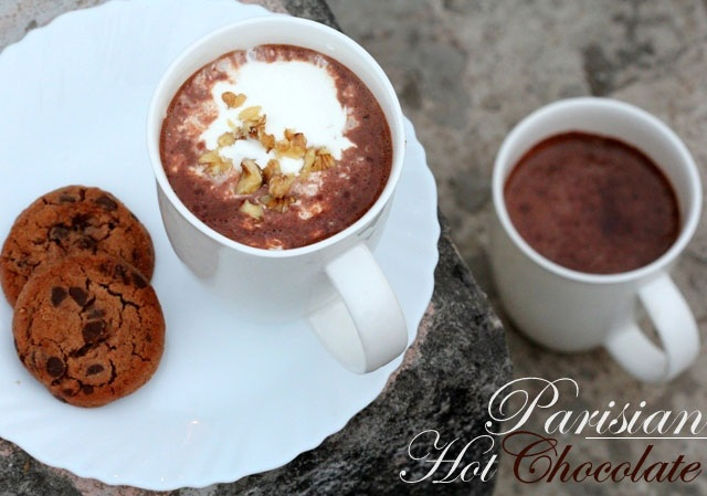 hot chocolate recipe, parisian hot chocolate, best hot chocolate