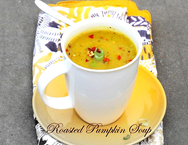 Roasted Pumpkin Soup, Pumpkin soup, soup recipe