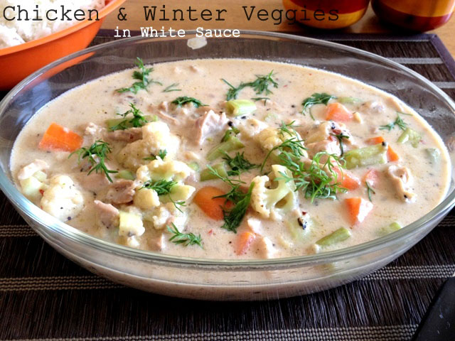 Recipes for chicken with white sauce