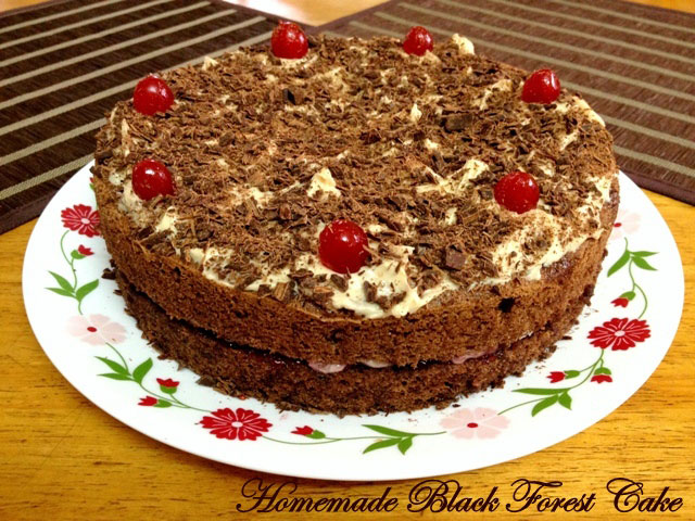 black forest cake, how to make black forest cake, birthday cake recipe