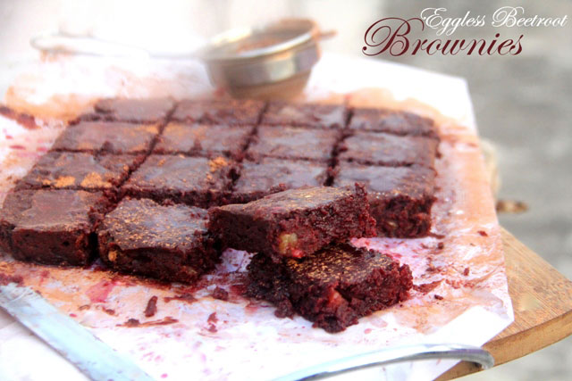 eggless brownies, eggless chocolate brownies, beetroot brownies, brownies
