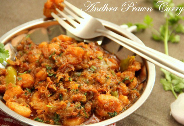Andhra Prawn Curry Recipe, Prwan Curry, Indian Prawn Curry, Prawn Masala , prawn recipe