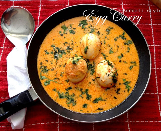 Egg curry recipe, bengali style egg curry, egg curry, curry recipe