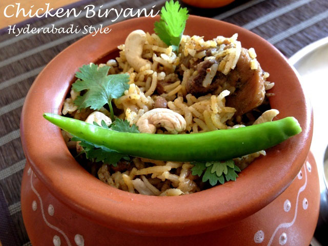 Chicken Biryani (Hyderabadi Style), hyderabadi chicken biryani, Biryani from Hyderabad, Indian Chicken Biryani, Indian Biryani recipe, rice recipe