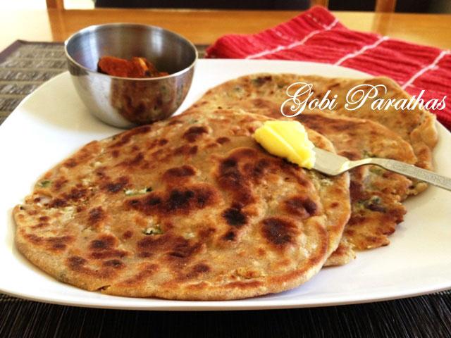 Gobi Paratha recipe, indian flat bread recipe, indian stuffed bread, how to make paratha