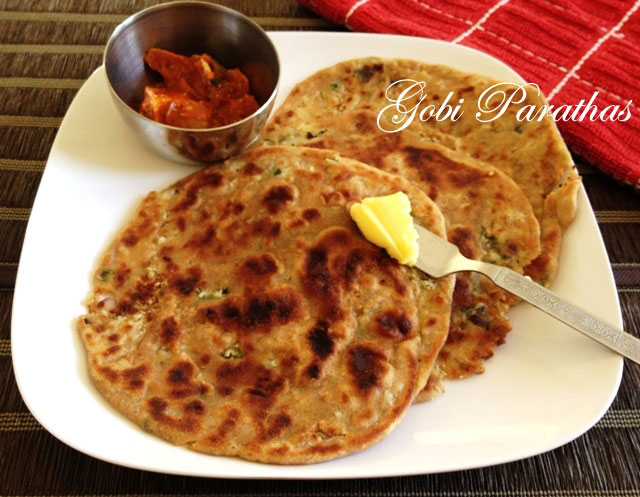 Gobi Paratha recipe, indian flat bread recipe, indian stuffed bread, how to make paratha
