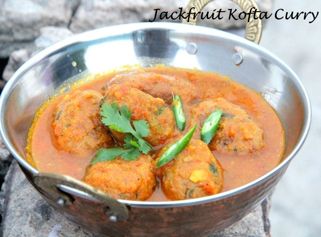 Jackfruit Kofta Curry Recipe, jackfruit curry recipe, jackfruit recipe, indian curry, kofta recipe